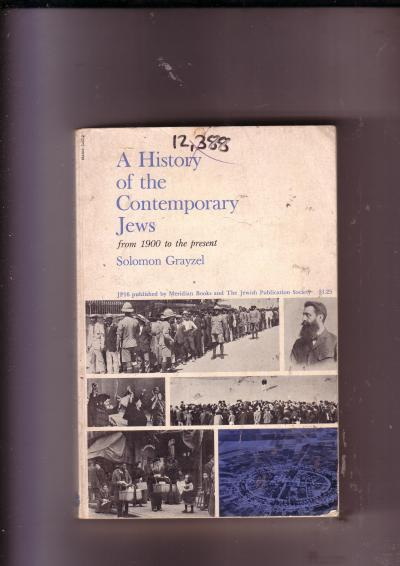 A History of the Contemporary Jews from 1900 to the present
