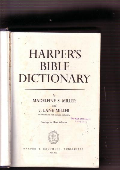 Harper's Bible Dictionary
