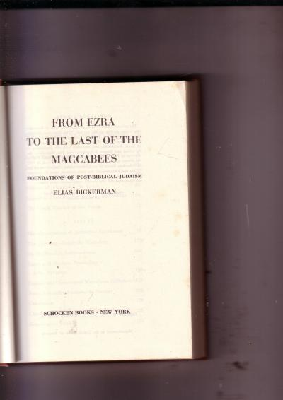 From Ezra to the Last of the Maccabees