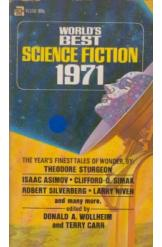 Worlds Best Science Fiction 1971 Donald Wollheim Terry Carr Sci Fi
